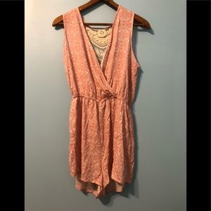 Dresses & Skirts - Beautiful Rose Pink Boho Romper with Woven Details